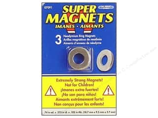 "Magnet Source, The: The Magnet Source Magnet Neodymium Super Ring 3/4"" 3pc"
