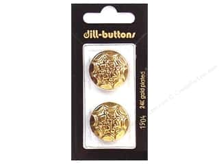 Dill Buttons 23mm Shank Antique Gold 2 pc