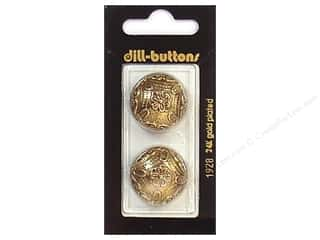 Patterns $7 - $8: Dill Shank Buttons 7/8 in. Antique Gold #1928 2pc.