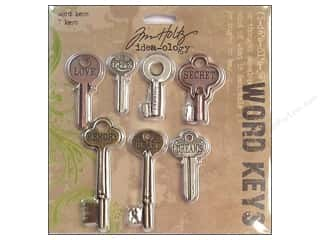 Tim Holtz Idea-ology Word Keys 7 pc
