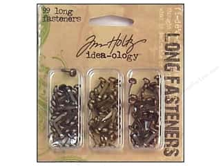 Brads Metal Embellishments: Tim Holtz Idea-ology Fasteners Long Brads 99 pc