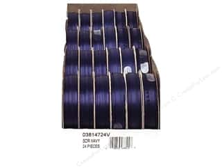 Offray Spool-O-Ribbon Dblfc Satin Ast Navy (24 spools)