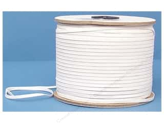 Conrad Jarvis Designer's Choice Braid Elastic: Conrad Jarvis Braided Flat Elastic 1/8 in x 300 yd White (300 yards)