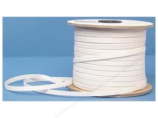 Elastic Sewing Construction: Conrad Jarvis Braided Flat Elastic 1/4 in x 120 yd White (120 yards)