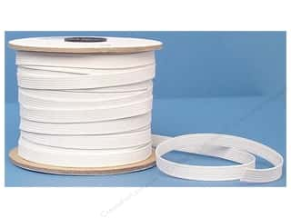 Conrad Jarvis Designer's Choice: Conrad Jarvis Braided Flat Elastic 3/8 in x 70 yd White (70 yards)