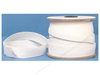 Conrad Jarvis Designer's Choice Braid Elastic: Conrad Jarvis Braided Flat Elastic 1 in x 20 yd White (20 yards)