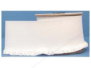 Conrad Jarvis Ruffle Knit Elastic 3in x 8yd White (8 yards)
