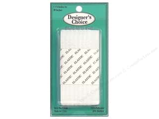 "CJ Des Choice Elastic Waistband 1 7/8"" White 30"""
