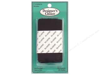 "CJ Des Choice Elastic Waistband 1 7/8"" Black 30"""