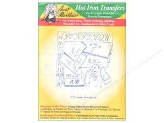 Transfers inches: Aunt Martha's Hot Iron Transfer #3739 Green New Monograms