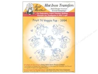 Aunt Martha&#39;s Hot Iron Transfer White FruitVegPup