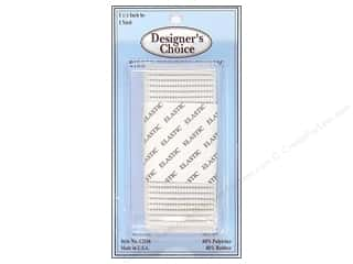 "CJ Des Choice Elastic Rib No Roll 1.5"" White 1yd"