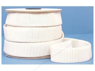 Conrad Jarvis Ribbed Non Roll Elastic 1in x 12yd White (12 yards)