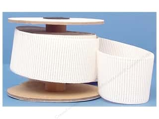 Conrad Jarvis Ribbed Non Roll Elastic 2in x 5yd White (5 yards)