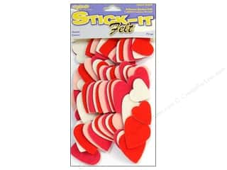Valentine's Day Basic Components: CPE Stick-It Felt Shapes Hearts 72 pc.