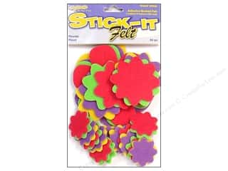 Kid Crafts Flowers: CPE Stick-It Felt Shapes Flowers 36 pc.