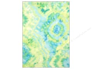 CPE Printed Felt 9&quot;x 12&quot; Tie Dye Lime 12 pc (12 sheets)