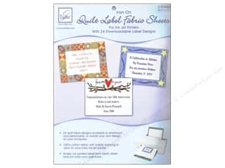 Fabric 1 Sheet: June Tailor Inkjet Fabric Sheet Iron On Quilt Label 2pc