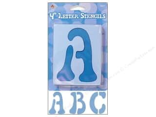 "ABC & 123 $4 - $6: Plaid Stencil Upper Case Letters 4"" Disco"