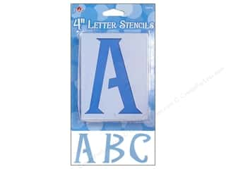 "Stenciling ABC & 123: Plaid Stencil Upper Case Letters 4"" Genie"
