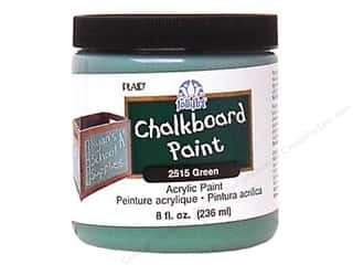 Wood Back To School: Plaid FolkArt Chalkboard Paint 8 oz. Green
