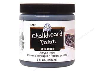 Paints Black: Plaid FolkArt Chalkboard Paint 8 oz. Black