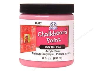 acrylic paint: Plaid FolkArt Chalkboard Paint 8oz Hot Pnk