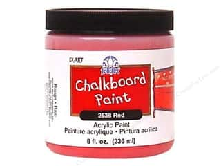 Plaid FolkArt Chalkboard Paint 8oz Red