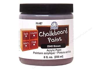 acrylic paint: Plaid FolkArt Chalkboard Paint 8oz Brown