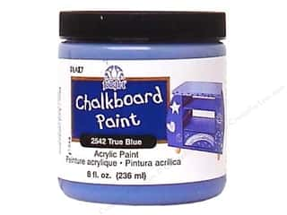 Plaid FolkArt Chalkboard Paint 8oz True Blue