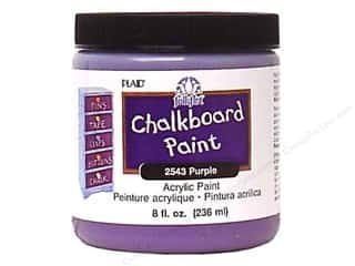 Wood Back To School: Plaid FolkArt Chalkboard Paint 8 oz. Purple