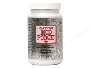 Plaid Mod Podge Glitter Hologram Silver 8 oz
