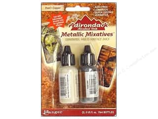 Tim Holtz: Tim Holtz Adirondack Alcohol Ink Metallic Mixative by Ranger Pearl/Copper