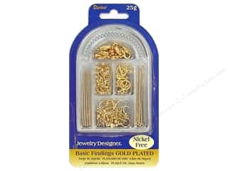 Darice Jewelry Designer Findings Basic Gold Plated Nickel Free