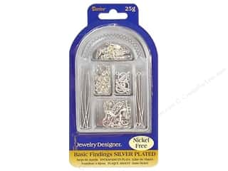 Darice Jewelry Designer Findings Basic Silver Plated Nickel Free