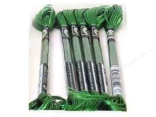 DMC Satin Embroidery Floss Kelly Green (6 skeins)