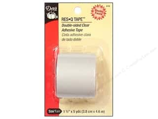 Dritz Tape Res Q Tape Double Sided Clear 1.5&quot;x5yd