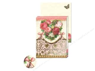 Pads Flowers: Punch Studio Pocket Note Pad Flower Heart