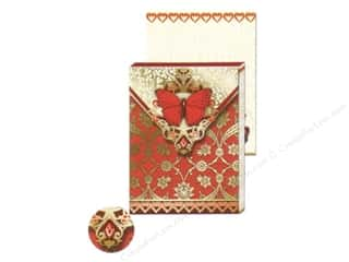 Magnets Punch Studio Decorative Magnet: Punch Studio Pocket Note Pad Red Butterfly