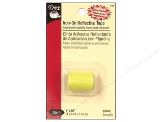 Iron On Reflective Tape by Dritz Yellow