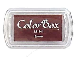 ColorBox 2 1/2 in: ColorBox Pigment Inkpad Mini Brown