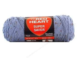 Hearts Hot: Red Heart Super Saver Yarn #4321 Spa Blue Fleck 5 oz.
