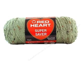 Red Heart Super Saver Yarn Frosty Green Fleck 5 oz.