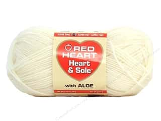 fingering yarn: Red Heart Heart & Sole Yarn Ivory