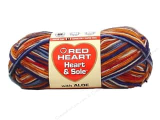 fingering yarn: Red Heart Heart & Sole Yarn  #3945 Rustica