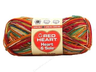fingering yarn: Red Heart Heart & Sole Yarn  #3965 Razzle Dazzle