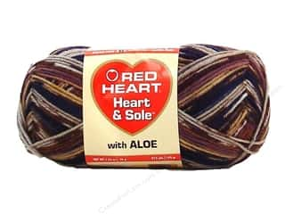 fingering yarn: Red Heart Heart & Sole Yarn  #3966 Toasted Almond
