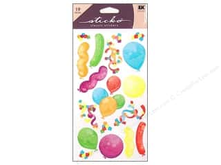 Birthdays: EK Sticko Stickers Party Balloons