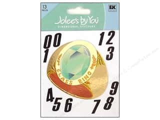 3/4 D rings: Jolee's By You Stickers Class Ring