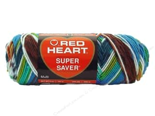 Red Heart Super Saver Yarn #0946 Peruvan Print 5 oz.